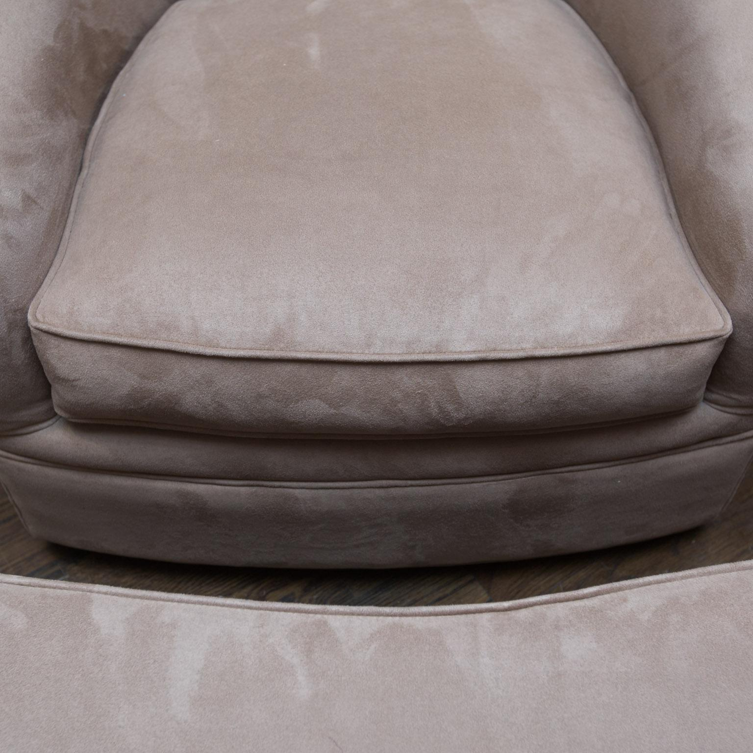 Maurice Villency Ultra Suede Swivel Chair U0026 Ottoman   Image 3 ...