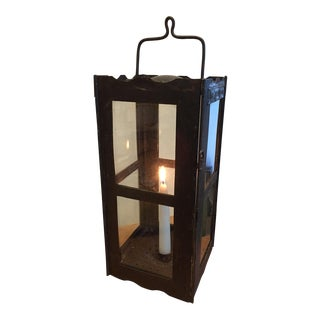 Black Iron Candle Lantern