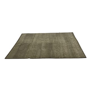 Hand-Loomed Earthy Green Odegard Rug - 2′ × 12′8″