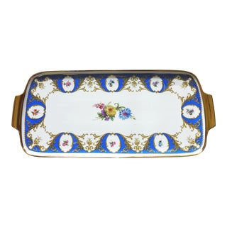 German Floral Porcelain Tray