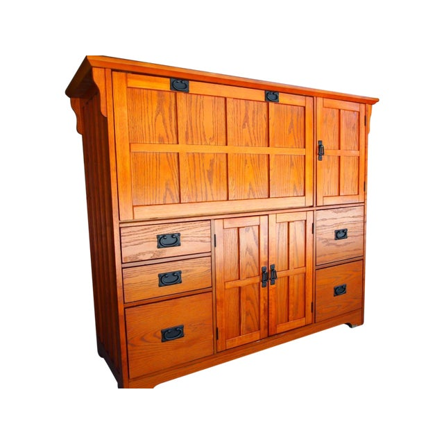 Contemporary Craftsman Mission Style Hutch Chairish