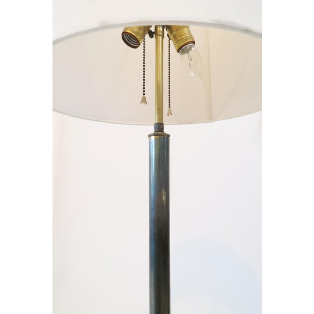 Image of Brass Floor Lamp With Glass Table