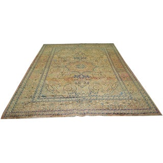 "Antique Washed Out Persian Mashad Rug - 8'3"" x 11'10"""