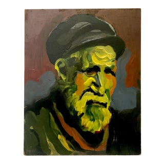 Expressionist Portrait Oil Painting on Board