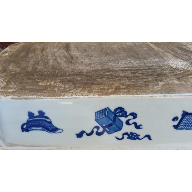 Chinese Filigree Porcelain Serving Platter - Image 4 of 6