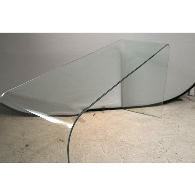 Glass Waterfall Console in the Style of Pace - Image 4 of 6