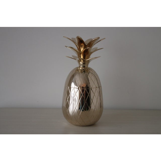 "Image of 10"" Brass Pineapple Box"