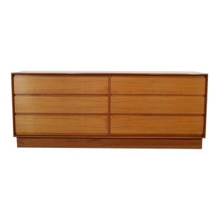 Danish Teak Plinth Base Low Dresser