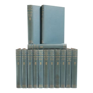 Turn of The Century Blue Covered Naturalist Essays- Set of 14