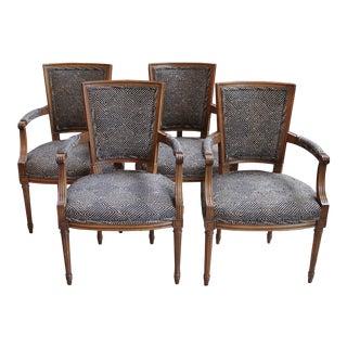 """Louis XVI-Style """"Fauteuils"""" - Set of 4"""