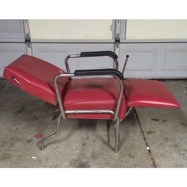 Image of Vintage Reclining Salon Shampoo Chair