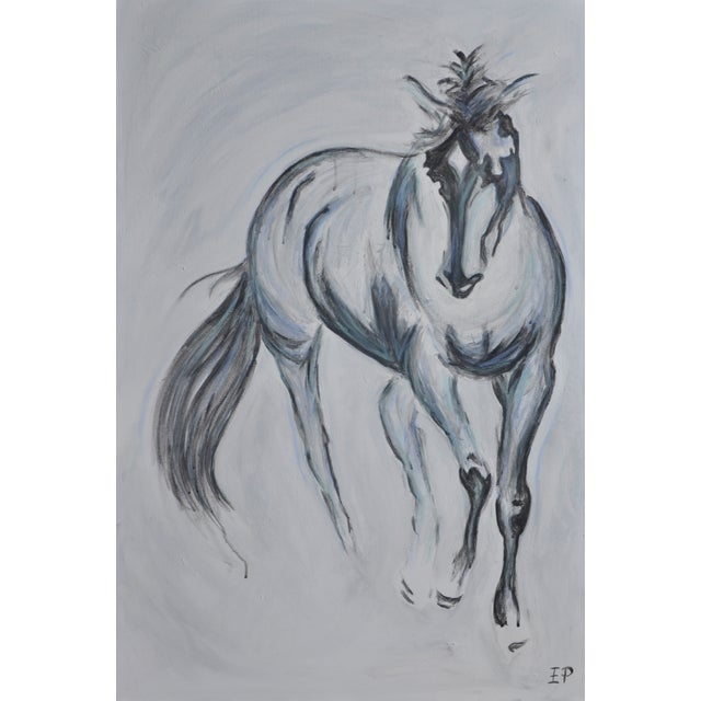 Pete V Large Horse Painting Equine Abstract - Image 4 of 4
