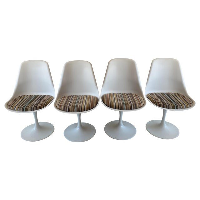 Mid-Century Tulip Dining Chairs - Set of 4 - Image 1 of 9