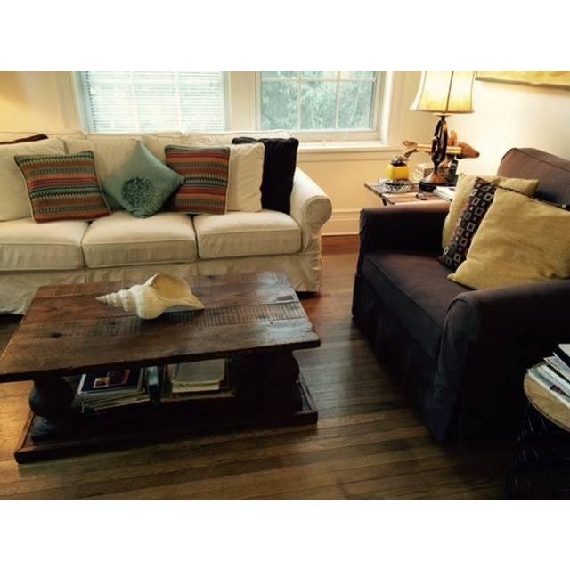 Arhaus Wooden Coffee Table - Image 8 of 9