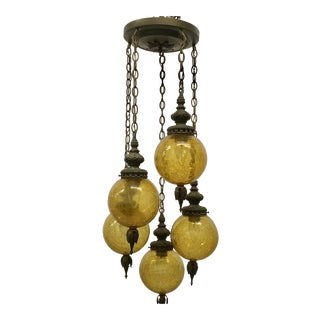 Vintage Round Glass Chandelier