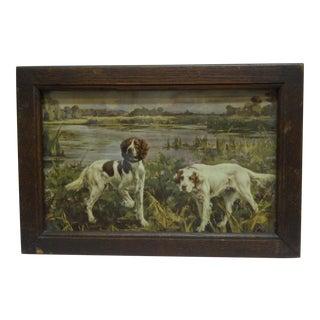 Circa 1900 Bird Dogs Framed Print
