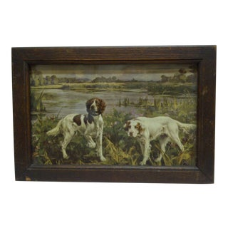 Circa 1900 Bird Dogs Framed Print