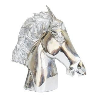 Modernist Chrome Horse Bust