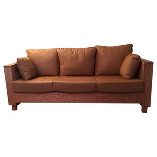 Amish Made Leather Sofa