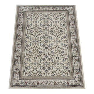 Herati Traditional Ivory Rug - 9′ × 13′