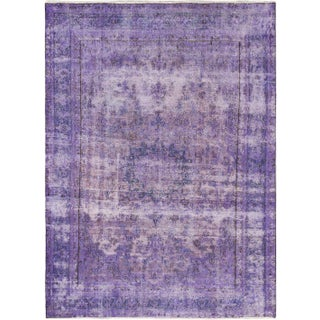 "Vintage Turkish Overdyed Rug - 6'10"" x 9'4"""
