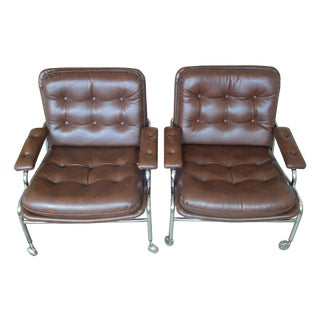 Bruno Mathsson Style Karin Easy Chairs - Pair