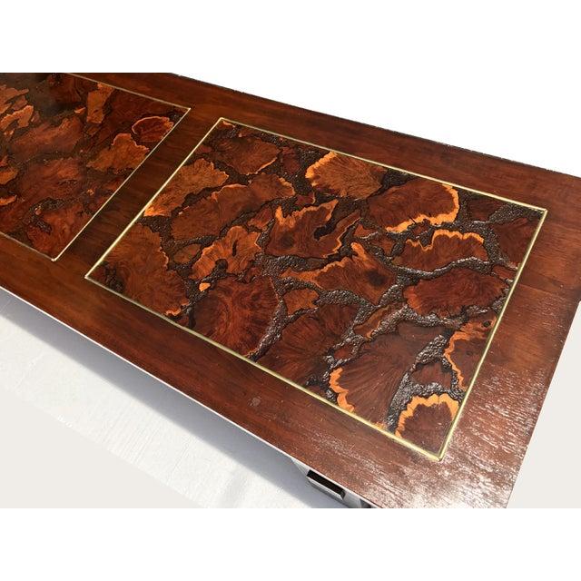 Burl Coffee Table Mid Century: Lane Mid Century Burl Wood Coffee Table