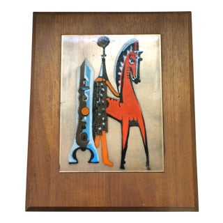 Mid-Century Copper Art with Horse