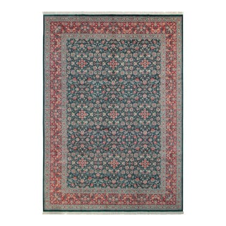 "Kashan Pak-Persian Sonja Green & Red Wool Rug - 10'1"" x 14'2"""