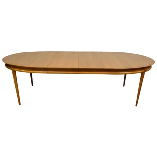 Mt. Airy Mid-Century Bleached Walnut Dining Table