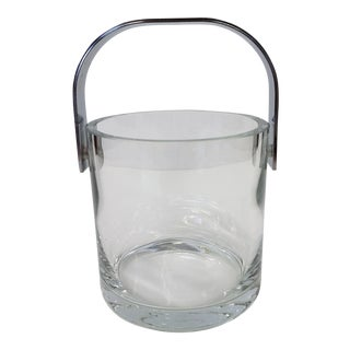 Heavy Crystal Ice Bucket With Stainless Handle
