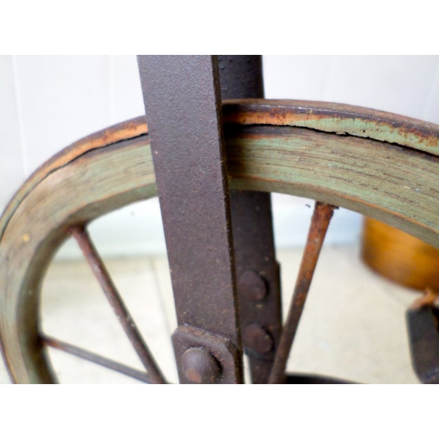 Antique Victorian Tricycle Metal & Wood Wheels - Image 8 of 9
