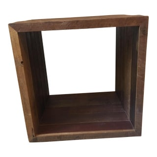 Minimal Wooden Cube Table