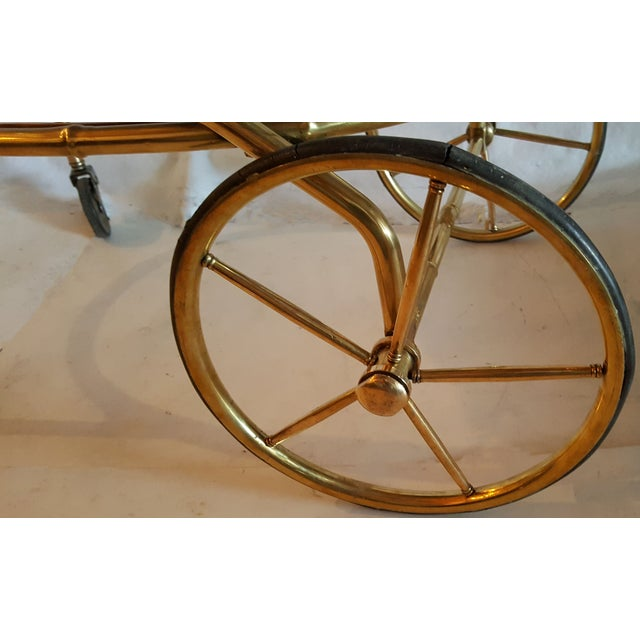 Vintage Maison Bagues French Oval Bar Cart - Image 4 of 7