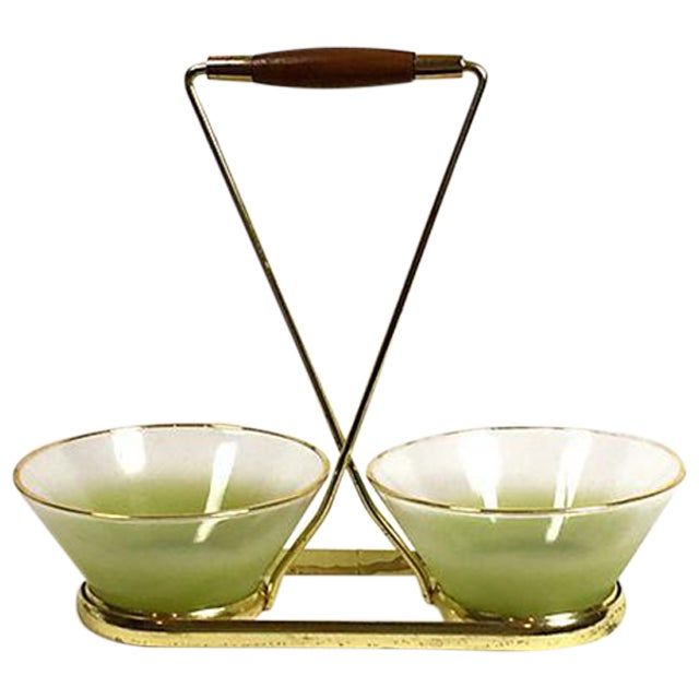 Image of Blendo Green Frosted Glass Serving Set
