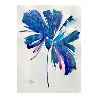 Ultramarine Botanical Watercolor