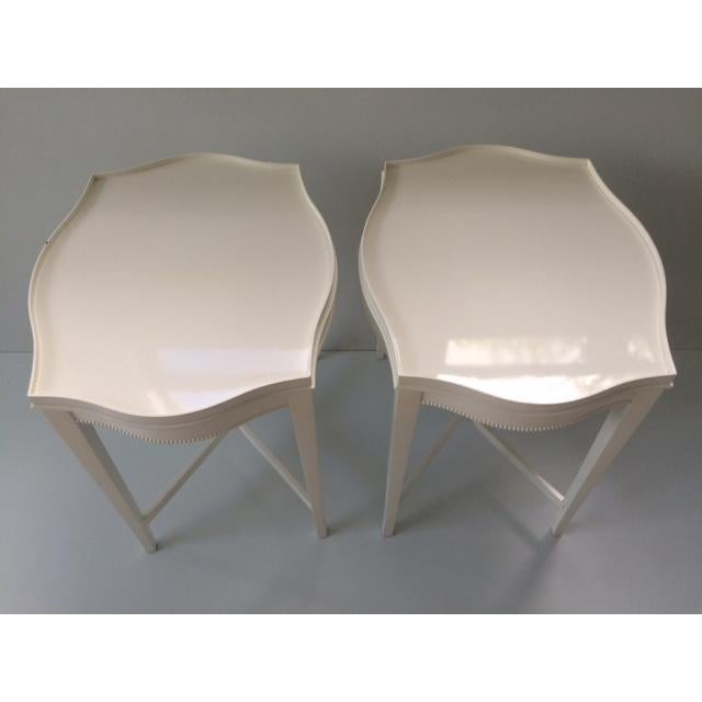 Vintage Hollywood Regency Side Tables - A Pair - Image 3 of 10