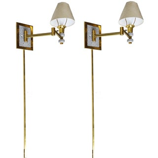 Articulated Swing Wall Sconces - A Pair