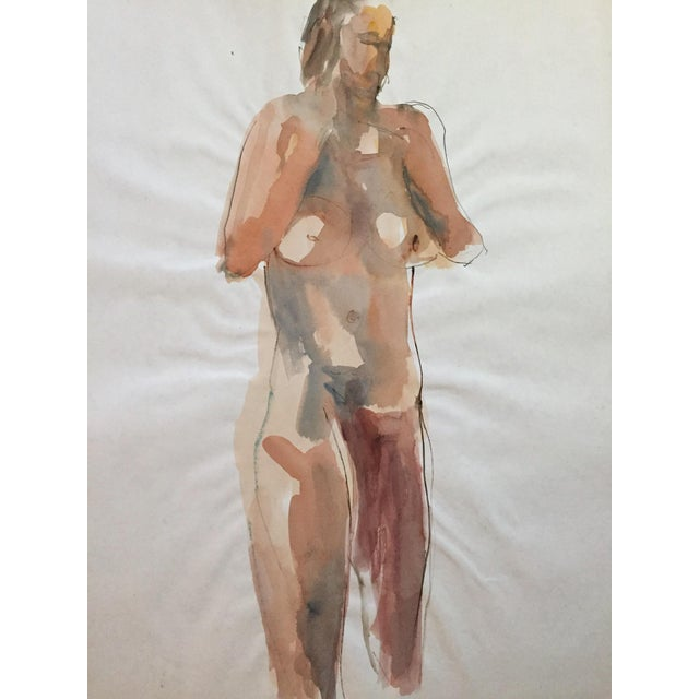 Thelma Corbin Moody Female Nude Standing c. 1970's Painting - Image 2 of 5