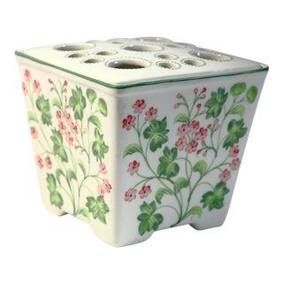 Floral Frog Lid Vase