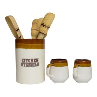 Kitchen Canister and Mug Set - 9 Pc.
