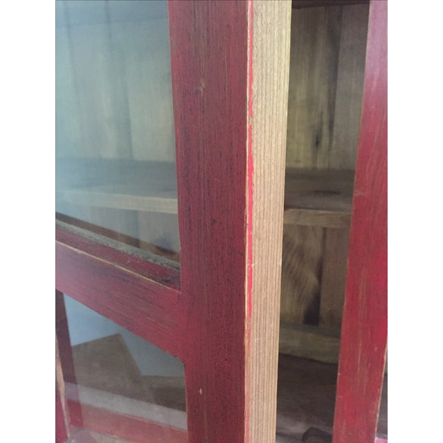 Red Farm Style 2 Piece Pine China Cabinet - Image 6 of 11