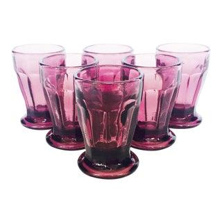 Vintage Aubergine Shot Glasses - Set of 6