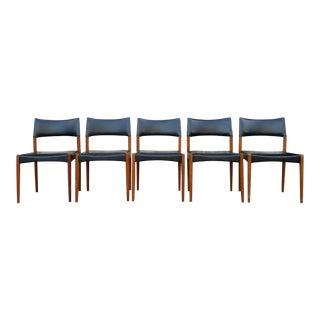 Danish Modern Hans Moller Black Dining Chairs - Set of 5