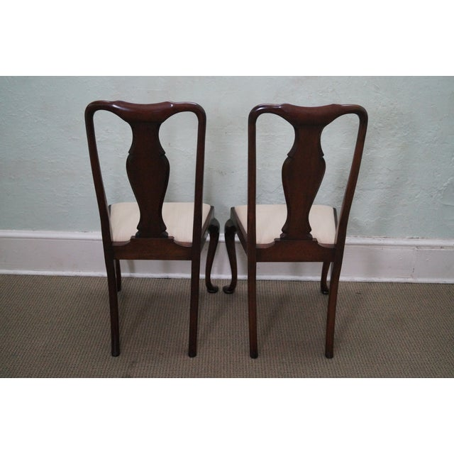 Image of Solid Mahogany Custom Queen Anne Dining Chairs