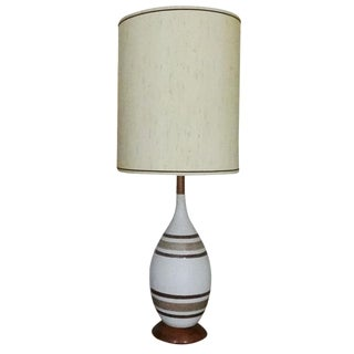 Mid-Century Clay Pottery Lamp