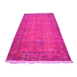 Turkish Pink Decorative Rug - 4′11″ × 8′2″
