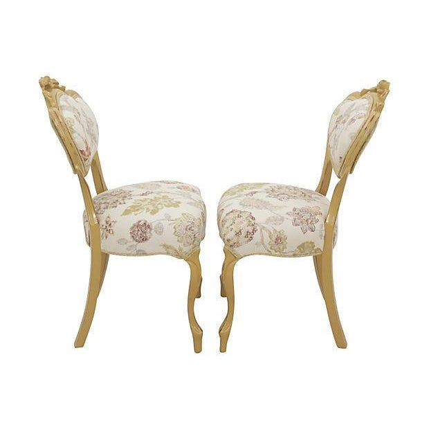 Image of Victorian Balloon-Back Parlor Chairs - A Pair