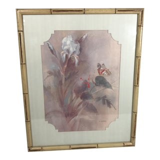Vintage Faux Bamboo Framed Print