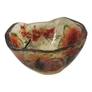 Art Glass Low Bowl